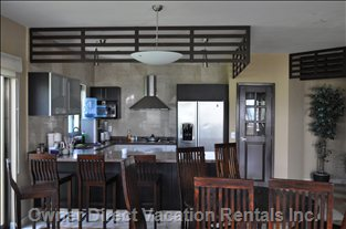 Kitchen - Large Pantry, all Cookware, all Dishes and Glasses, Balcony, Stainless Steel Appliances