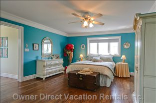 Master Bedroom - Suite Retreat!  the Master Bedroom is Situated for Privacy and has a Walk-in Closet, Luxurious Ensuite Bath and Private and Secluded 400 Square Foot Sitting Room with Wall-to-wall Windows.