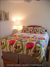 The Second Bedroom Also has a Comfortable Queen Bed with Cotton Sheets and Duvet.