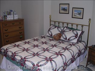 Downstairs Bedroom - one of Four Bedrooms in on the Lower Floor, Nice and Cool in the Summer!
