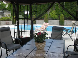 Relax under the Shaded Gazebo While Watching the Kids Enjoy the Pool.