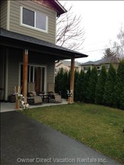Covered Patio, Tree Lined Yard and Parking