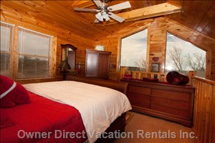 Upstairs Bedroom - Mountain Views