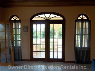 2nd French Door in Living Room - Additional Balcony Access and Views.