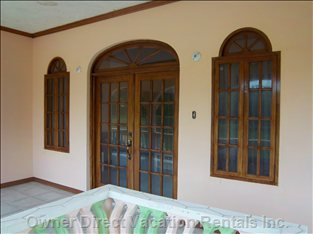 Nice French Doors Total Open to Show Views and Feel the Breeze