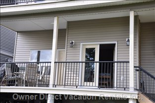 Deck - the Suite has Two Exterior Doors. the Double French and the one off the Eating Area.