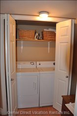 Private Laundry Area - Extra Large Capacity Washer and Dryer