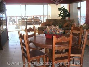 Dining Room/Living Room Going out to the Patio and Ocean