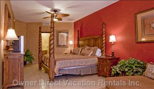 Master Bedroom/all Beds Are King Size with Excellent Mattresses for Comfort