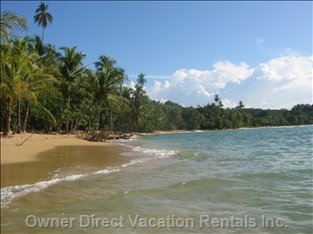 Punta Uva Beach, 10 Min Bike Ride Away, Great for Swimming and Snorkeling.