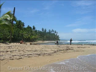Playa Chiquita Beach, 10 Min Walk Away. A Great Swimming Spot.