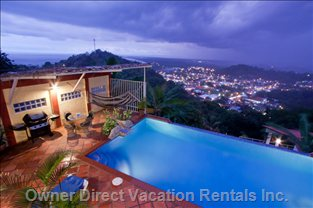 Unique Feature to this Home Are the Night Time Views of the Town of Quepos