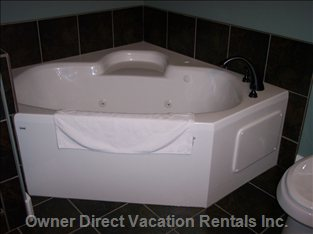 Soaker Tub in Ensuite.