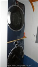 Laundry Room has Front Loading Washer and Dryer