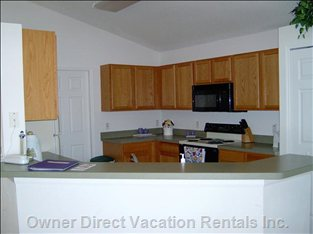 Fully Equipped Kitchen for your Convenience.