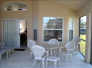 Large Lanai for Dining, Games Or Just Relaxing.