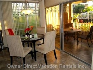 Dine Indoors Or out on the Ocean View Lanai (See below)