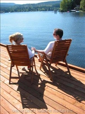 Admiring the View of Shawnigan Lake from the Dock