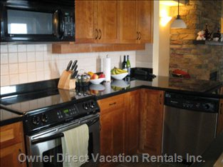 Well Equipped Kitchen with Large Oven, Fridge, Dishwasher