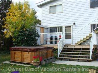Separate Entrance, Private Deck and Hot Tub.