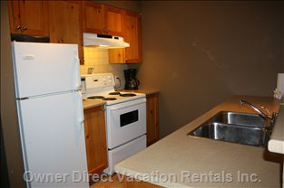 Kitchen with Dishwasher and Microwave Not Shown. Fully Stocked with Lots of Extras you Won'T Get at other Condos, like Ziploc Bags.