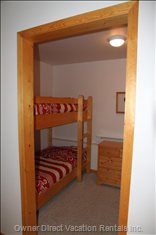 Bunkroom - There Are Four Single Bed Sized Bunks. this View is from the TV Sitting Room
