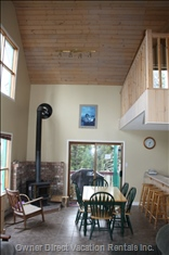 Dining Area and Wood Stove