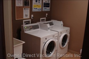 Coin-op Washer and Dryer in Common Area. - these Are Found on the Way to the Hot Tub in the Common Area.