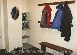 Ample Room for Coats and Boots in  Entrance Hall