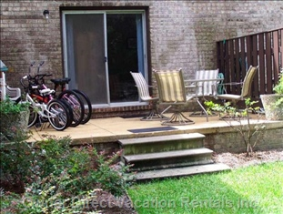 Patio with Grill & 4 Bikes Included