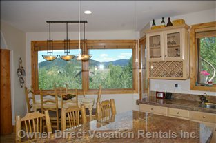 Kitchen Nook with View of Deer Valley Resort