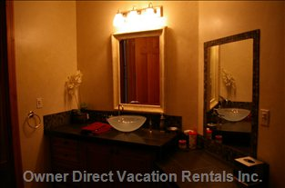 Main Level Powder Room with Shower