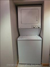 Washer and Dryer in the Suite, Available Anytime.