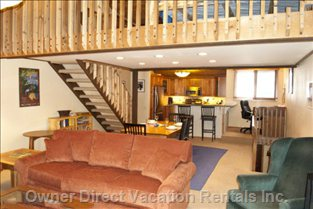 The Main Living Area is on the Upper Floor and Includes Stairs to the Loft.