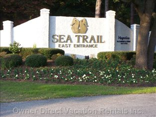 East  Entrance of Sea Trail