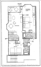 Floorplan Totaling 1,200 Square Feet