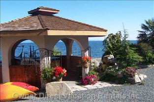 Oceanfront Hot Tub & Gazebo