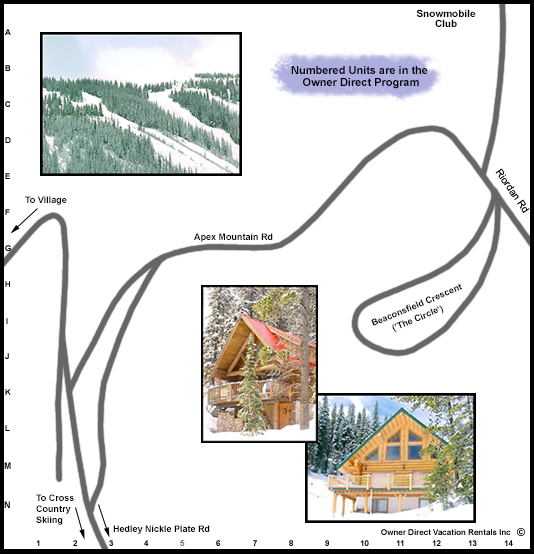 Apex Resort Map - West