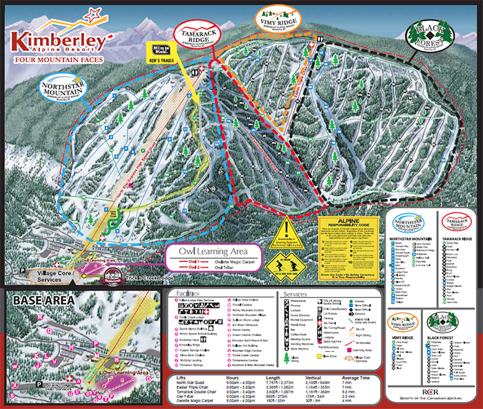 Kimberley Alpine Trail Map