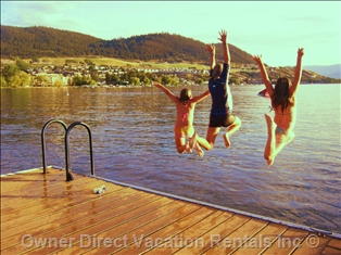 Kids paradise, they love the warm temperature of Okanagan Lake