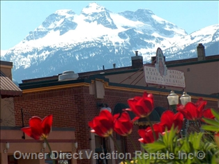 Downtown Revelstoke in the spring