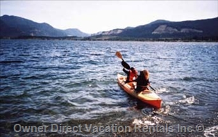 Kayaking on Lake Cowichan, BC