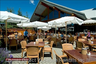 Relax on a patio at a Whistler restaurant