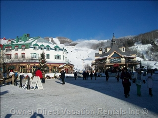 Mont-tremblant Village near Gondola in Winter