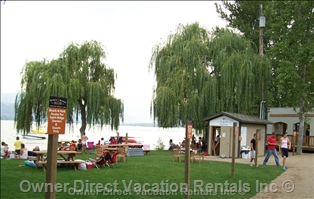 Enjoy a stroll to the waterfron on the warm waters of Osoyoos Lake