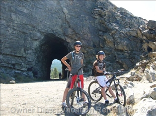 Mountain biking on the Kettle Valley Railway