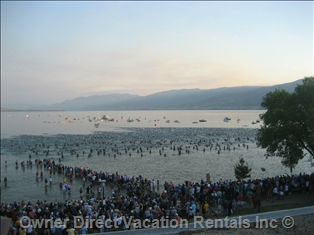 Ironman start in Penticton, BC