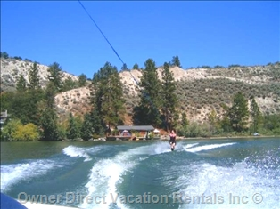 Waterskiing on Okanagan Lake