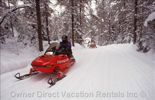 Snowmobiling in Radium, BC