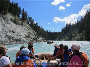 Rafting in Radium with many river options to choose from